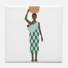 African Woman Tile Coaster