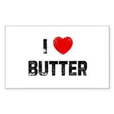 I * Butter Rectangle Decal