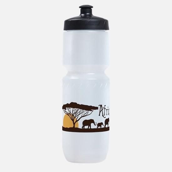 African Sunset Sports Bottle