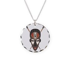 African Tribal Mask Necklace