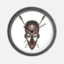 African Tribal Mask Wall Clock