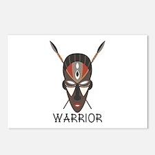 Warrior Mask Postcards (Package of 8)