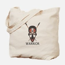 Warrior Mask Tote Bag