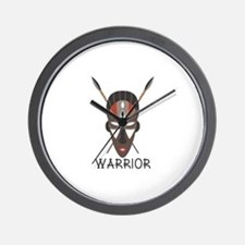Warrior Mask Wall Clock