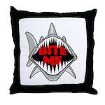 Bite Me Shark Throw Pillow