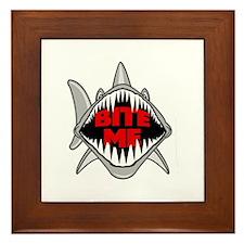 Bite Me Shark Framed Tile