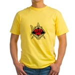 Bite Me Shark Yellow T-Shirt