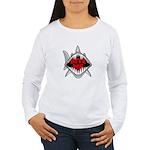 Bite Me Shark Women's Long Sleeve T-Shirt