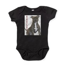 Cute American staffordshire terrier Baby Bodysuit