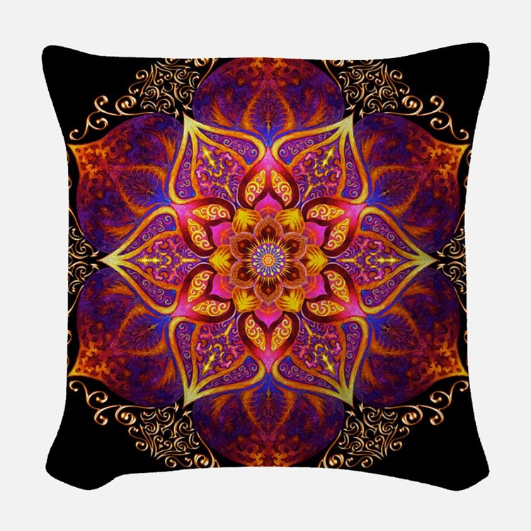 Beautiful Mandala Woven Throw Pillow