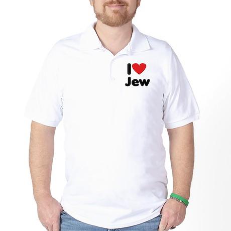 i heart jew Golf Shirt