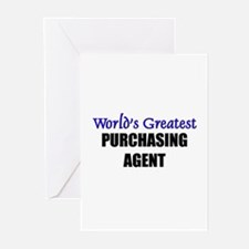 Worlds Greatest PURCHASING AGENT Greeting Cards (P