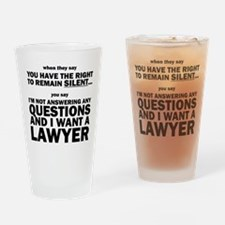 Funny Law and order Drinking Glass