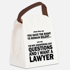Cute Law and order Canvas Lunch Bag