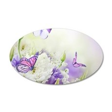 Flowers and Butterflies Wall Decal