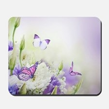 Flowers and Butterflies Mousepad