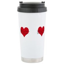 Cute I heart my hawk Travel Mug