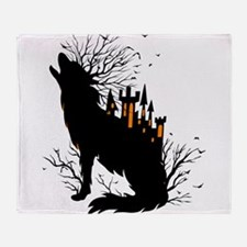 Halloween Concept Design-Wolf With S Throw Blanket