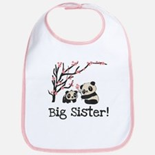 Panda Bears Big Sister Bib