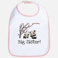 Panda Bears Big Sister Bib
