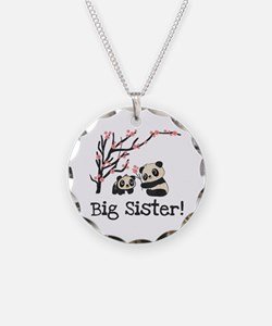 Panda Bears Big Sister Necklace