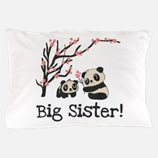 Panda Bears Big Sister Pillow Case