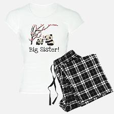 Panda Bears Big Sister Women's Light Pajamas
