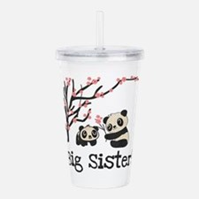 Panda Bears Big Sister Acrylic Double-Wall Tumbler