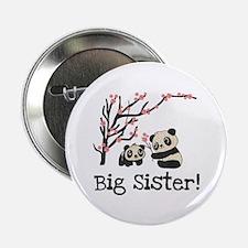 "Panda Bears Big Sister 2.25"" Button"