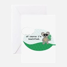 Koalified Good Luck (blank) Greeting Cards