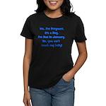 Pregnant Boy Due January Bell Women's Dark T-Shirt