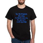 Pregnant Boy Due January Bell Dark T-Shirt