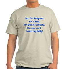 Pregnant Boy Due January Bell T-Shirt