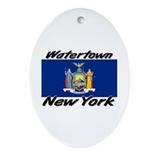 Watertown New York Oval Ornament