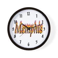 Memphis Flame Wall Clock