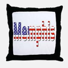 Patriotic Memphis Throw Pillow