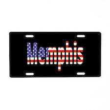 Patriotic Memphis Aluminum License Plate