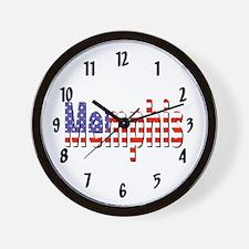 Patriotic Memphis Wall Clock