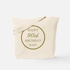 Happy 90th Birthday Dad Tote Bag