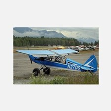 High wing aircraft (blue & white) Rectangle Magnet