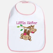 Monkeys Little Sis W Big Sis Bib