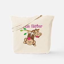 Monkeys Little Sis W Big Sis Tote Bag