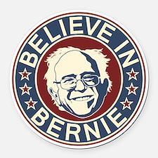 Believe in Bernie (V2) Round Car Magnet
