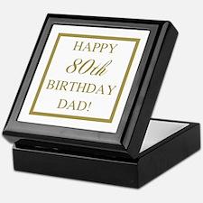 Happy 80th Birthday Dad Keepsake Box