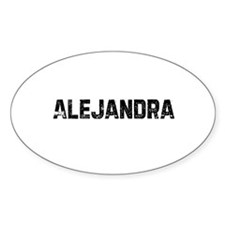 Alejandra Oval Decal