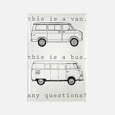 VW Bus Rectangle Magnet