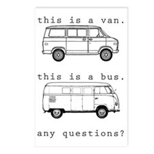 VW Bus Postcards (Package of 8)