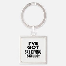 Sky diving Skills Designs Square Keychain
