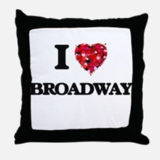I Love My BROADWAY Throw Pillow