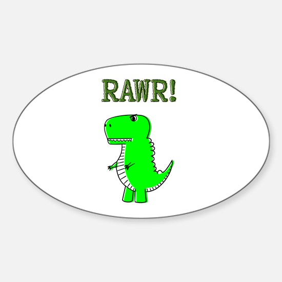 Cute Angry T-Rex RAWR Decal